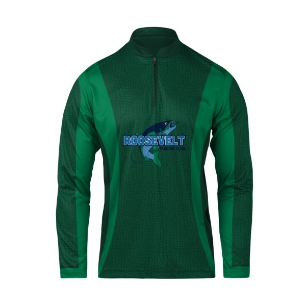 Custom Men's Long Sleeve Cadet Zip Fishing Jersey