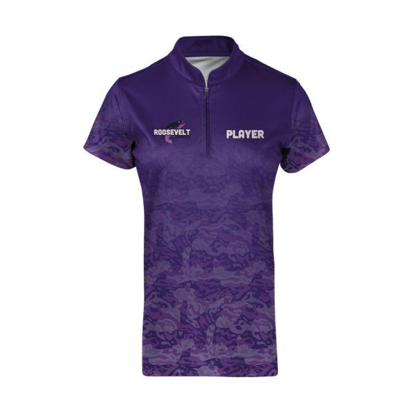 Custom Women's Short Sleeve Cadet Zip Fishing Jersey