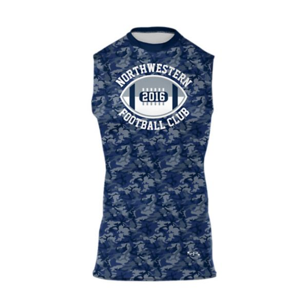 Men's Custom Full Dye Sleeveless Compression Tee (FD-438)