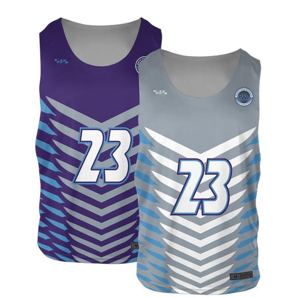 Full Dye, Lacrosse 2-Ply Reversible Pinnie Practice Jersey Top  (FD-3042)