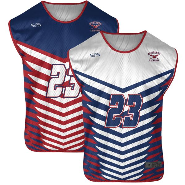 Custom Men's Reversible Sleeveless Lacrosse Jerseys