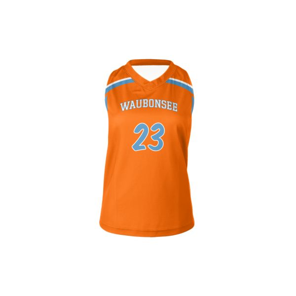 Custom Women's Racerback V-Neck Lacrosse Jerseys