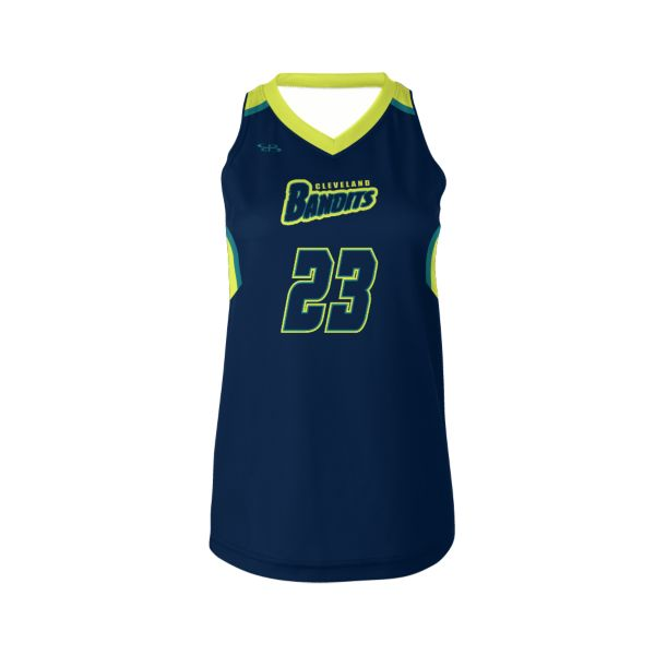 Custom Women's Sleeveless V-Neck Lacrosse Jerseys