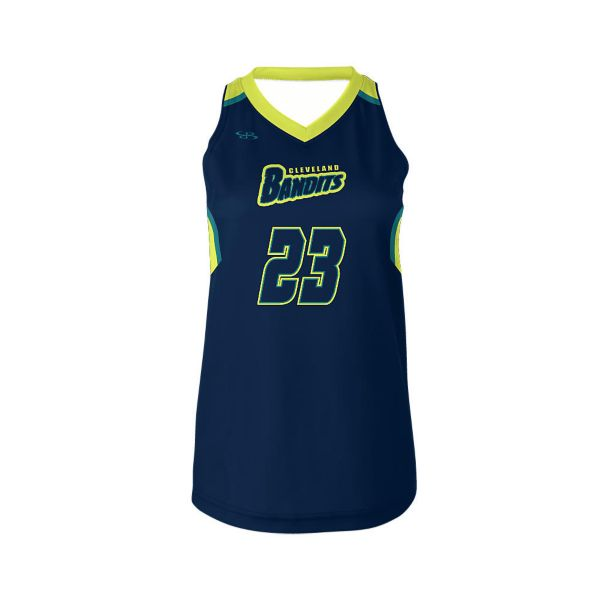 Full Dye, Womens Lacrosse Sleeveless  V-Neck Top  (FD-3045W)