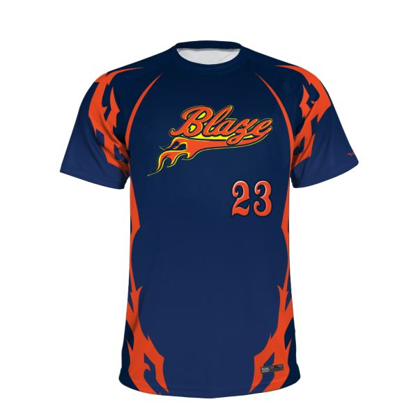 Men's Custom Crew Neck Short Sleeve Slowpitch Jersey