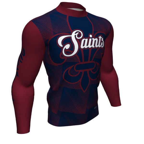 Custom Youth Mock Neck Long Sleeve Compression Shirt