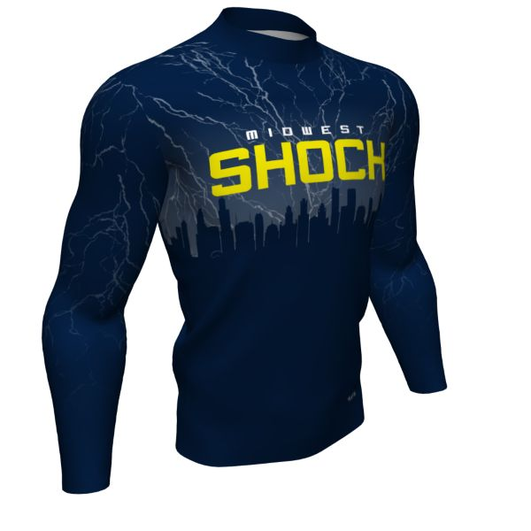 Custom Men's Mock Neck Long Sleeve Compression Shirt