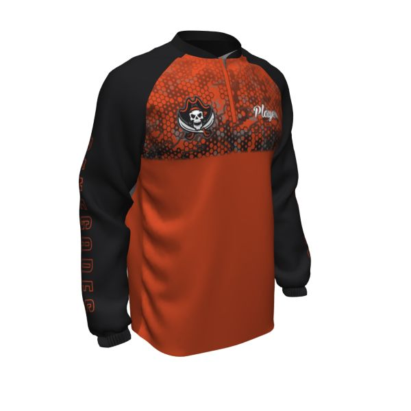 Custom Men's Prime Flex Tech Quarter Zip Crew Neck Pullover
