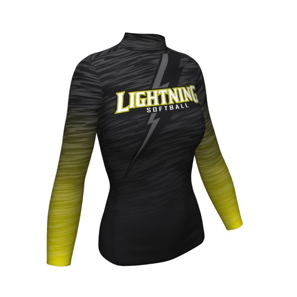 Custom Women's Mock Neck Long Sleeve Compression Shirt