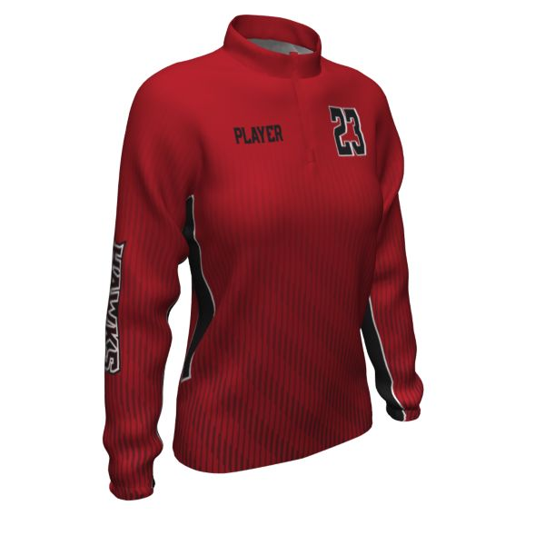 Custom Women's Prime Tech Woven Quarter Zip