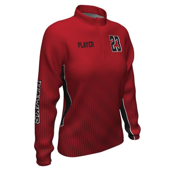Women's Custom Prime Tech Woven 1/4 Zip Pullover
