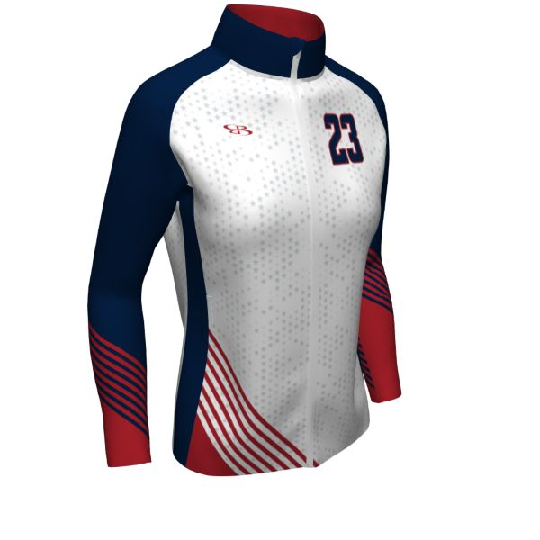 Custom Women's Full Zip Volleyball Warm Up
