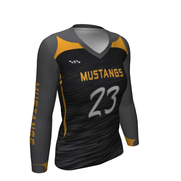Custom Women's Semi-Fitted Long Sleeve Volleyball Jersey