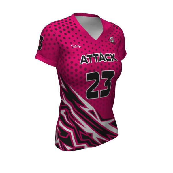 Custom Girls' Semi-Fitted Short Sleeve Volleyball Jersey