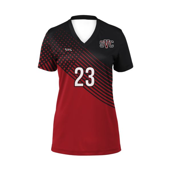 Custom Girls' Short Sleeve Volleyball Jersey