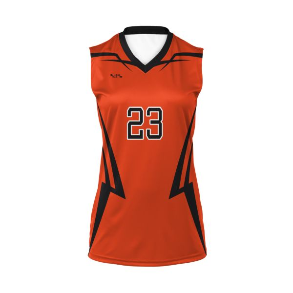 Custom Girls' Sleeveless Volleyball Jersey