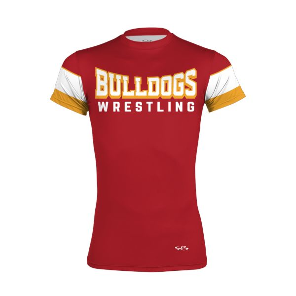 Custom Men's Wrestling Short Sleeve Compression Tee