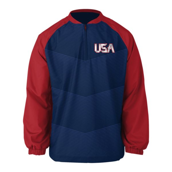 Men's USA Long Sleeve Pullover 3005