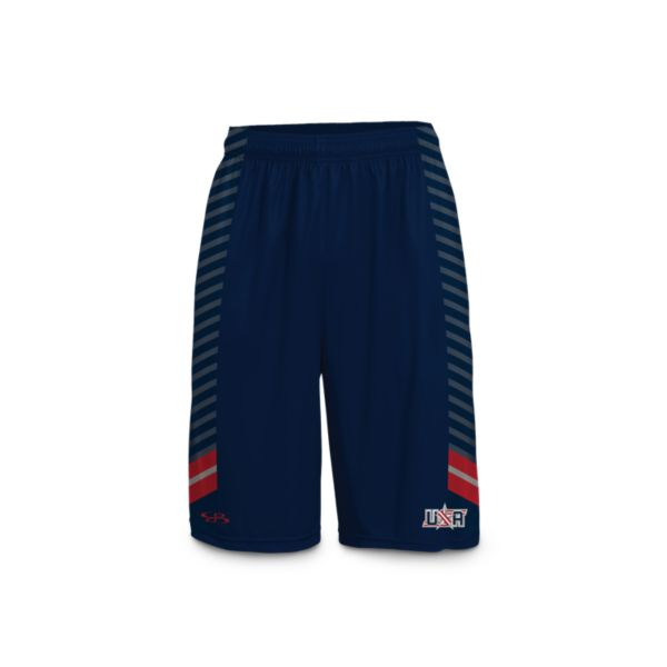 Men's USA Stripe INK Basketball Shorts
