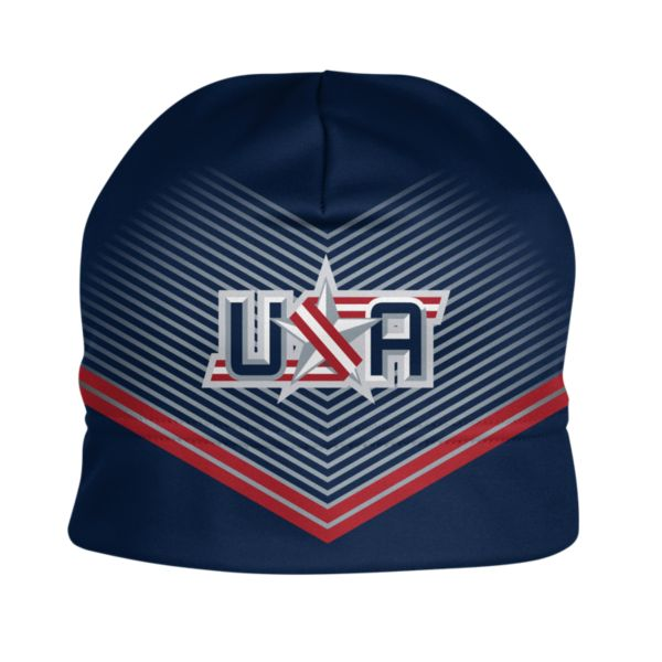 Boombah INK USA Beanie 3002 Navy/Red
