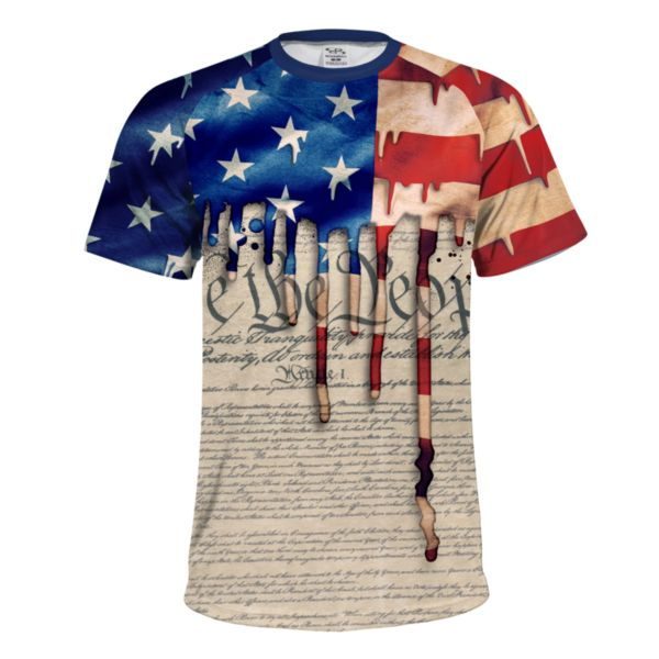 Men's USA Constitution INK Short Sleeve Shirt