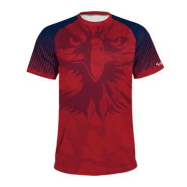 Men's USA Raglan Short Sleeve Shirt 3014