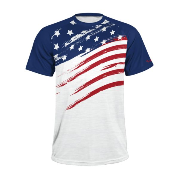 Men's USA Fade Raglan Short Sleeve Shirt