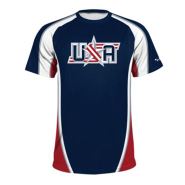 Men's USA Raglan Short Sleeve Shirt 3019
