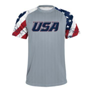 Men's USA Raglan Short Sleeve Shirt 3020