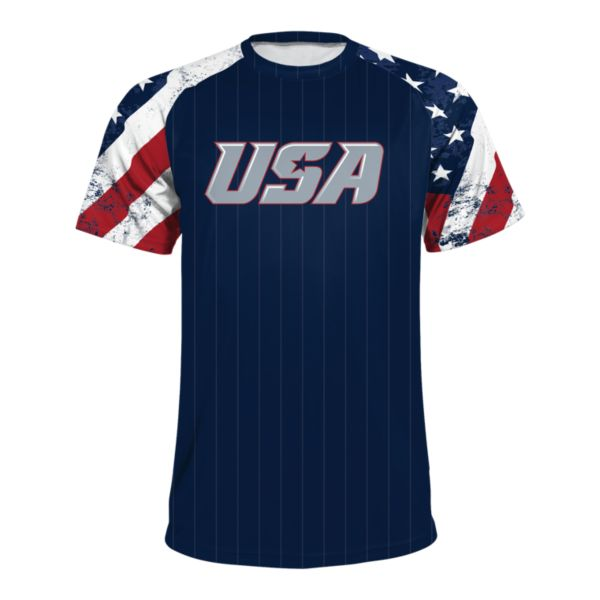 Men's USA Raglan Short Sleeve Shirt 3020