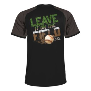 Men's Leave It On The Field Baseball Short Sleeve Shirt