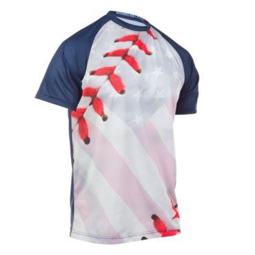 Men's USA Baseball Flag INK Short Sleeve Shirt