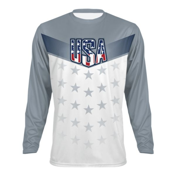 Men's USA Salute Long Sleeve Shirt