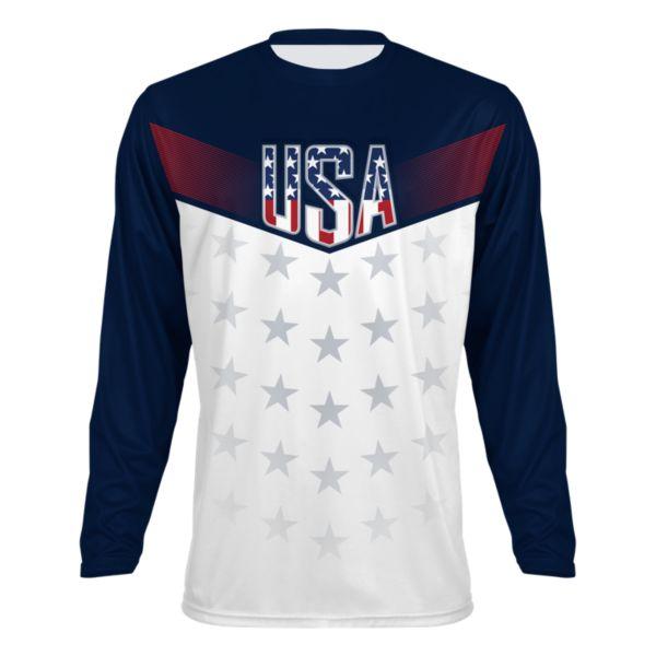 Men's USA Salute Long Sleeve Shirt