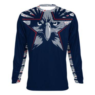 Men's USA Star Eagle INK Long Sleeve Shirt