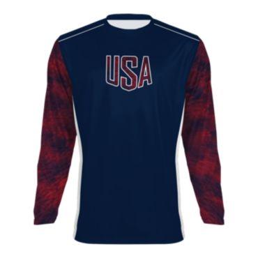 Men's USA Long Sleeve Shirt 3005