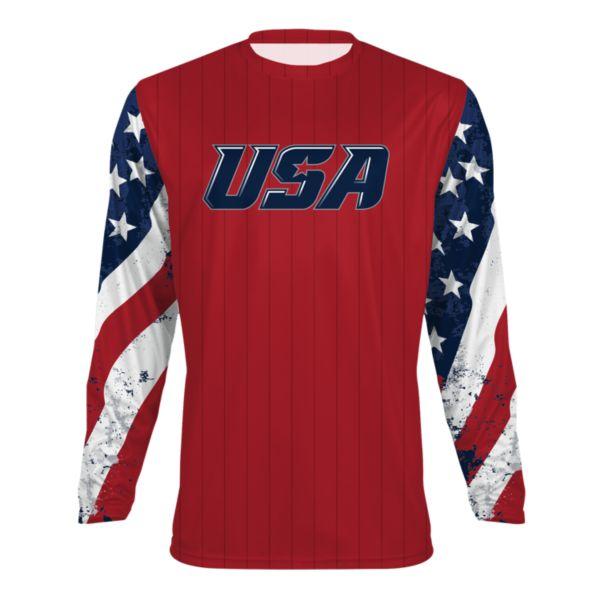Men's USA Long Sleeve Shirt 3009