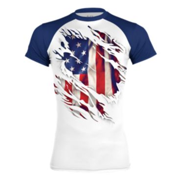 Boombah INK Men's Flag Classic USA Short Sleeve Compression Shirt