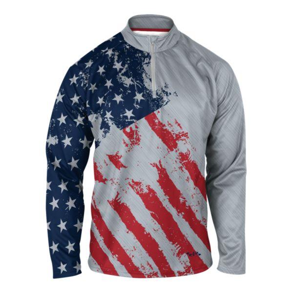 Men's USA INK Quarter Zip Pullover 3005