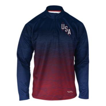 Men's USA INK Quarter Zip Pullover 3006