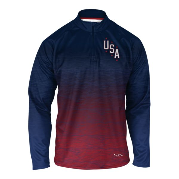 Men's USA INK Quarter Zip Pullover 3006