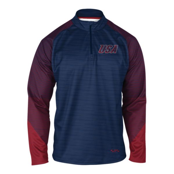 Men's USA INK Quarter Zip Pullover 3007