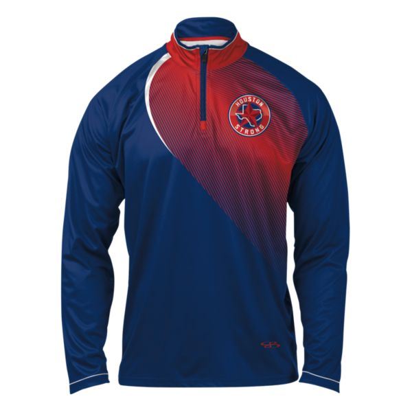 Men's Houston Strong INK Quarter Zip Pullover