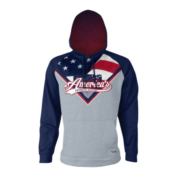 Men's USA America's Favorite Pastime INK Fleece Hoodie