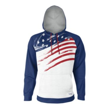 Men's USA Faded Flag INK Fleece Hoodie
