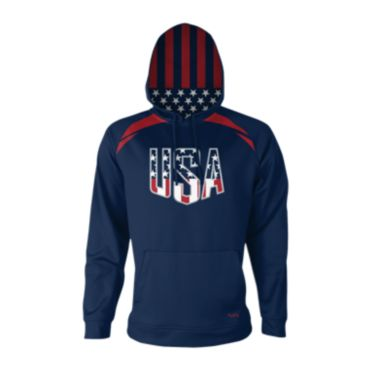 Men's USA Coat of Armor Fleece Hoodie