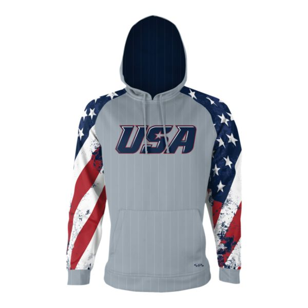 Men's USA Fleece Hoodie 3008