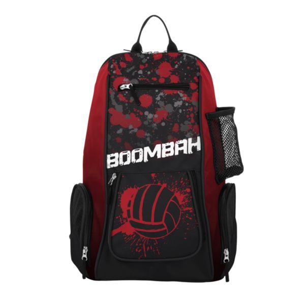 Spike Volleyball Backpack INK Splatter Ball Black/Red