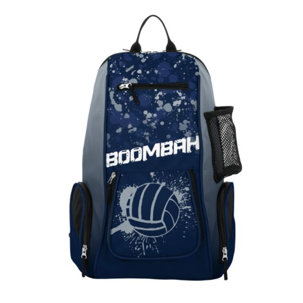 Spike Volleyball Backpack INK Splatter Ball Navy/Gray