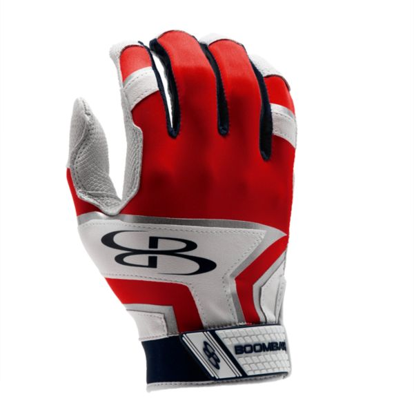 Adult LAZR Batting Glove Navy/Red/White